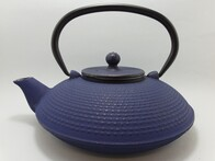 Cast Iron Teapot 800ml Fine Hobnail Blue