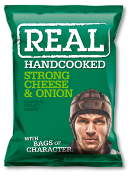 Real Crisps Strong Cheese & Onion150g