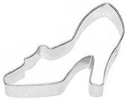 Cookie Cutter High Heel Shoe 8cm Silver