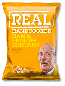 Real Crisps Ham & English Mustard 150g