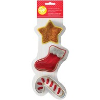 Xmas 3pc Cutter Star Set Stocking