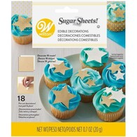Gold & White Sugar Sheet Stars 20g