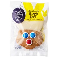 Handmade Bunny Face Choc Topped Gingerbread 44g