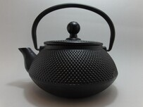 Cast Iron Teapot 500ml Fine Hobnail Black