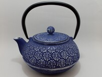 Cast Iron Teapot 900ml Cherry Blossom Purple