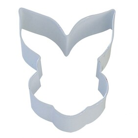 Cookie Cutter Bunny Face White 9cm