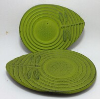 Cast Iron Coasters Set of 2 Dragonfly Green
