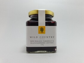 NZ Tamarillo and Black Raspberry Chutney 210g
