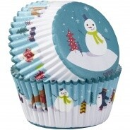 Baking Cups Snowman & Friends 75