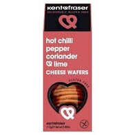 Hot Chilli Pepper, Corriander & Lime Cheese Wafers 110g