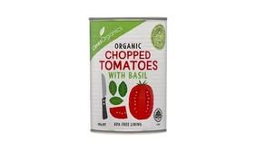 Organic Chopped Tomatoes with Basil 400g
