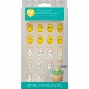 Mini Chicks & bunny Icing decorations