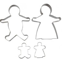 Cookie Cutter Gingerbread Family Set of 4