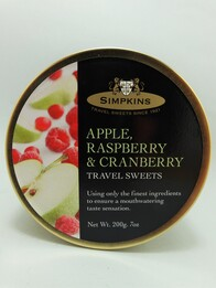 Apple, Raspberry and Cranberry Travel Sweets 200g