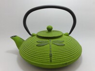 Cast Iron Teapot 770ml Dragonfly Green