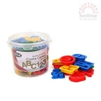 Alphabet and Number Cookie Cutter 36 Set