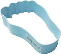 Cookie Cutter Baby Foot Blue 9cm