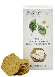 Basil & Extra Virgin Olive Oil Crackers 125g
