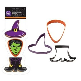 3pc Witch Cookie Cutter
