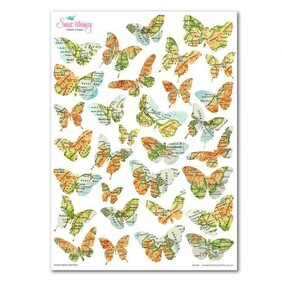 Edible NZ Map Butterfly