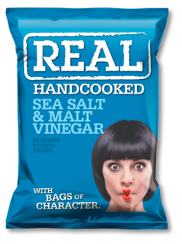 Real Crisps Sea Salt Malt Vinegar 150g