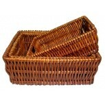 Gift Basket Rect Dark Slot Handle Small