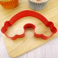 Rainbow Cookie Cutter 12cm Red