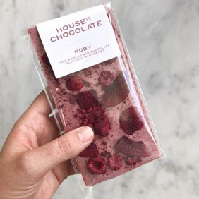 Plum & Raspberry Ruby Chocolate bar 90g