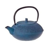 Cast Iron Teapot Blue Straw 800ml