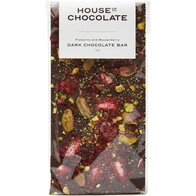 Pistachio and Boysenberry Dark Chocolate Bar 96g