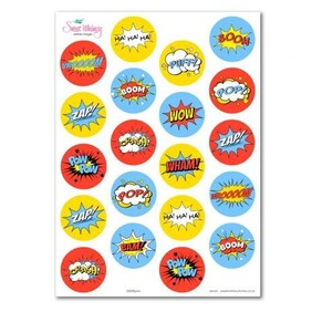 Edible Biff Pow Comic Words