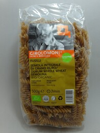Organic Wholewheat Fusilli 500g