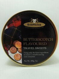 Butterscotch Flavoured Travel Sweets 200g