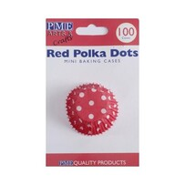Red Polka Dots Mini Baking Cases 100