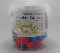 Alphabet and Number Cookie Cutter Set