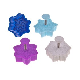 3D Snowflake Cookie cutter Set Of 4