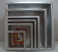 "4"" Deep Square Cake Pan 10cm x 7.5cm Deep"