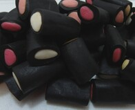 Liquorice Coloured Rockies 200g Bag