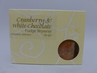 Cranberry & White Fudge Brownie 80g
