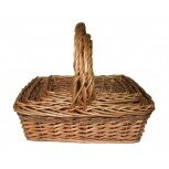 Gift Basket Seagrass Trim Handle Large