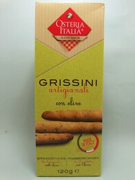 Artisan Breadsticks with Olives 120g